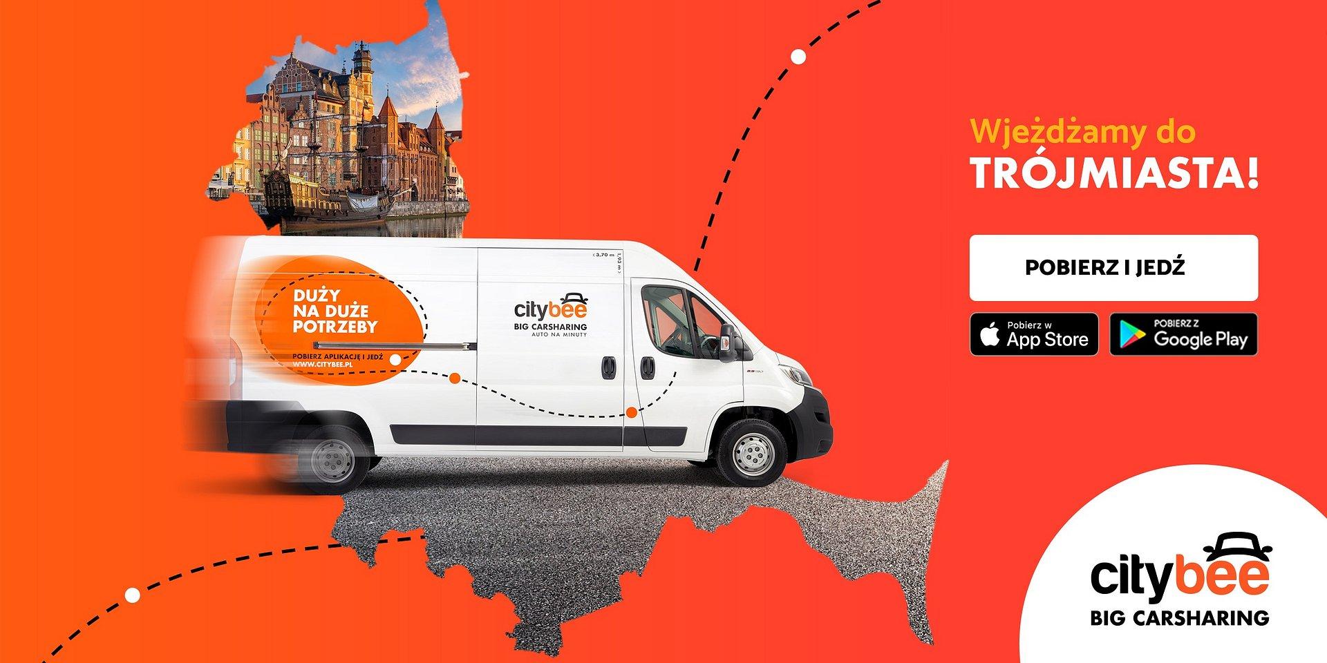 CityBee dostępne w Trójmieście! Startuje wynajem dostawczaków na minuty