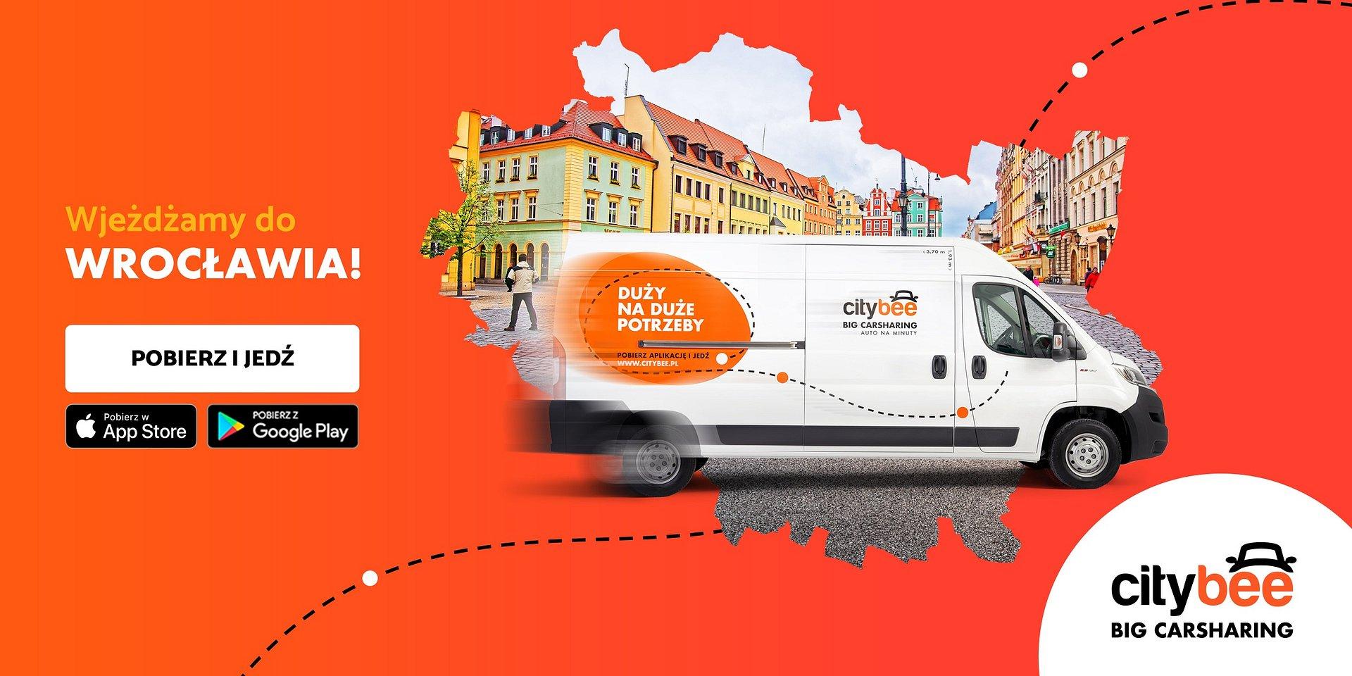 CityBee dostępne we Wrocławiu! Startuje wynajem dostawczaków na minuty
