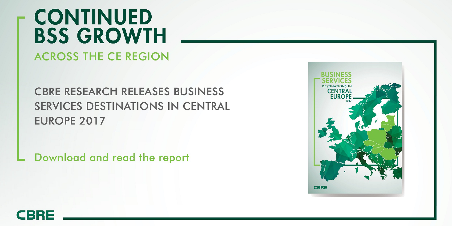 STRONG DEMAND FOR BUSINESS SERVICES IN CENTRAL EUROPE