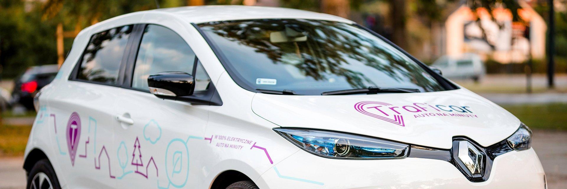 Elektryczne Renault ZOE w ramach usługi Traficar w Poznaniu!