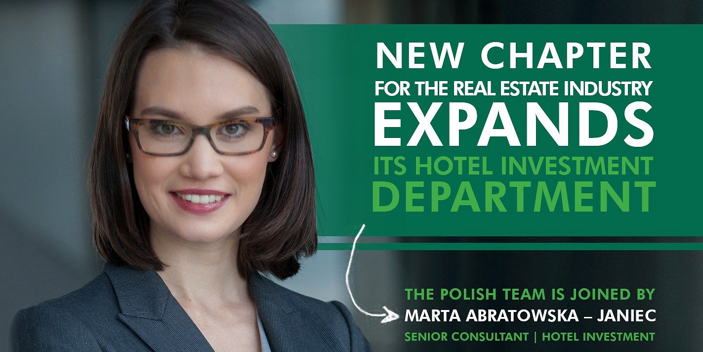 NEW CHAPTER FOR THE REAL ESTATE INDUSTRY – CBRE EXPANDS ITS HOTEL INVESTMENT DEPARTMENT