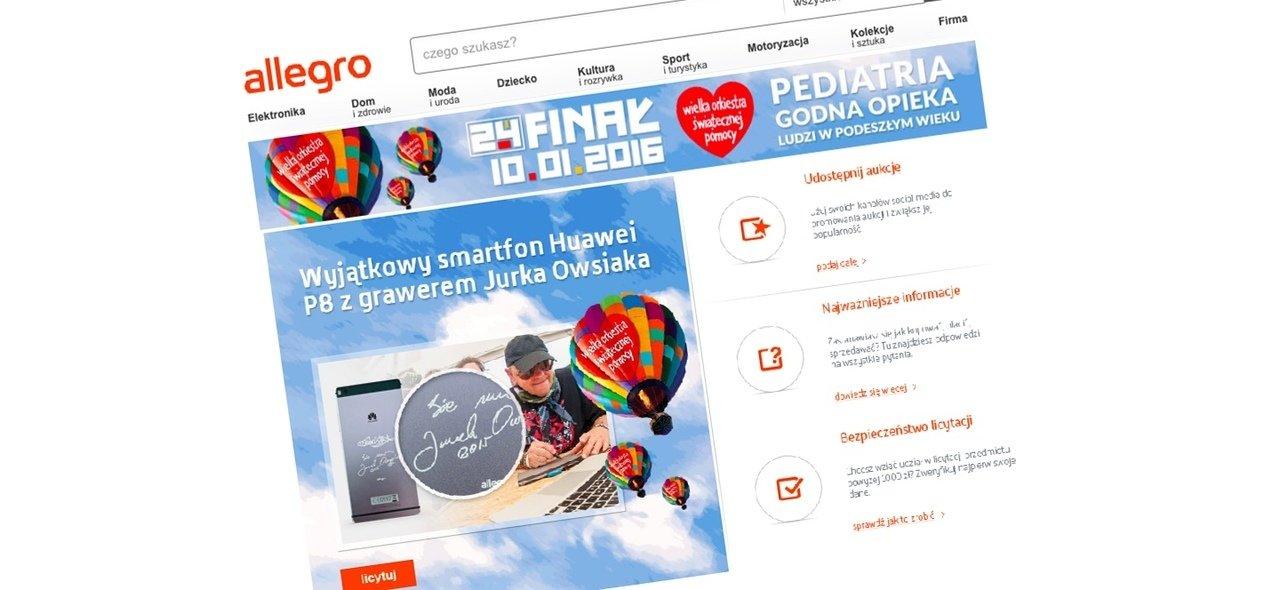 Internetowe aukcje WOŚP wystartowały