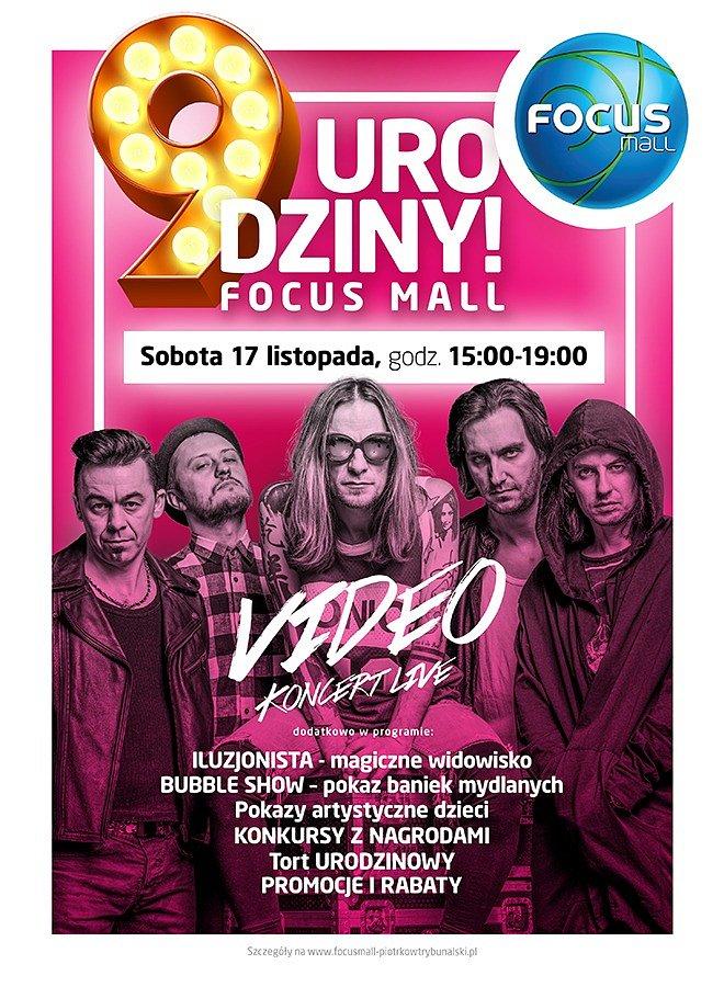Pokaz iluzji, Bubble Show oraz koncert grupy Video, czyli 9. urodziny Focus Mall Piotrków Trybunalski