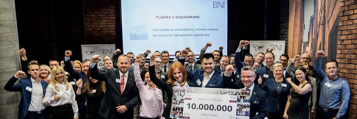 10 milionów dodatkowego przychodu firm białostockiego BNI