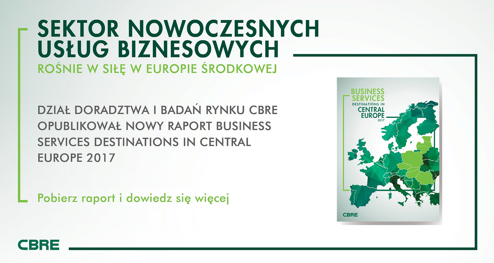 """BUSINESS SERVICES DESTINATIONS IN CENTRAL EUROPE 2017"""