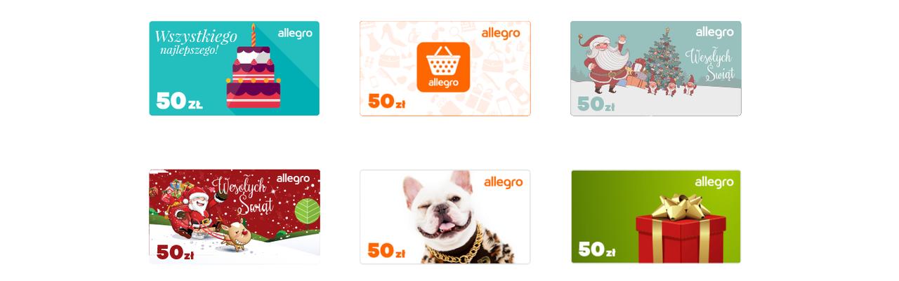 Allegro wprowadza karty prezentowe