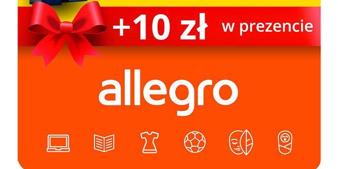 Karty podarunkowe Allegro w ofercie saloników Kolportera