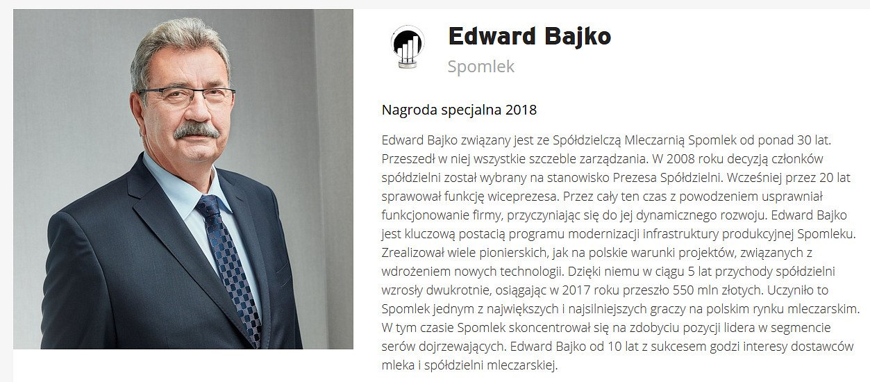 Większość firm chce płynąć z prądem, ale to w tym drugim kierunku jest mniejszy tłok - Edward Bajko uhonorowany nagrodą specjalną EY Przedsiębiorca Roku