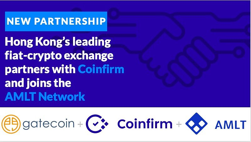 Gatecoin partners with Coinfirm for Cryptocurrency AML and joins the AMLT Network Untitled