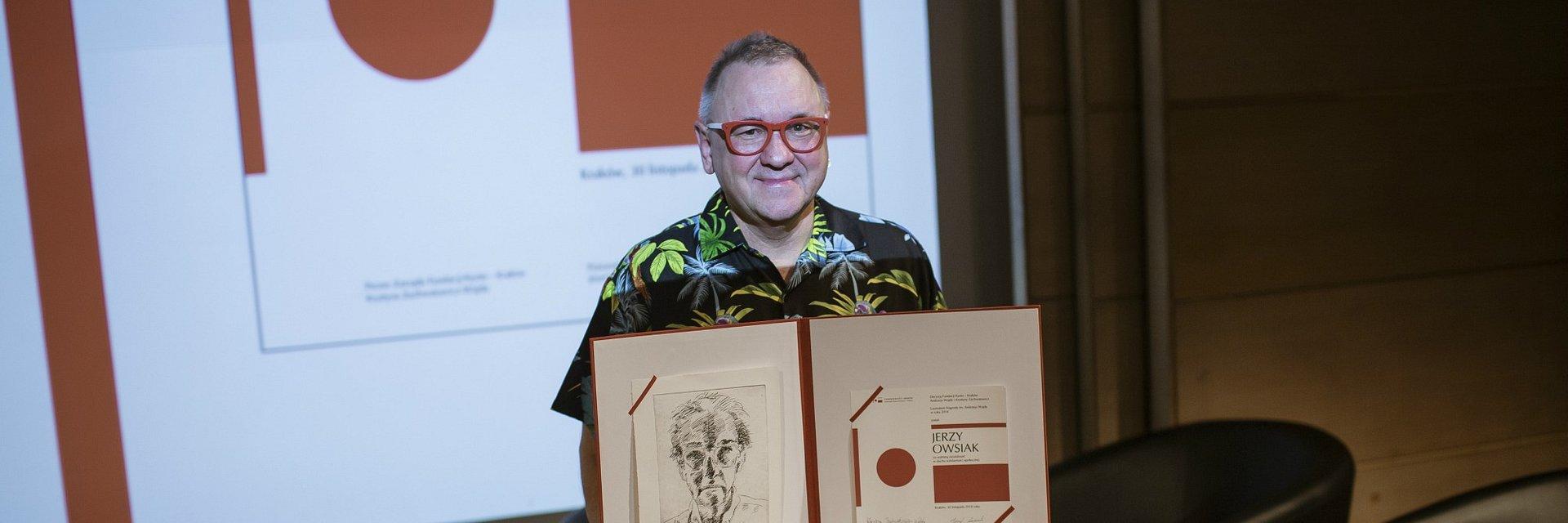 Nagroda imienia Andrzeja Wajdy dla Jerzego Owsiaka