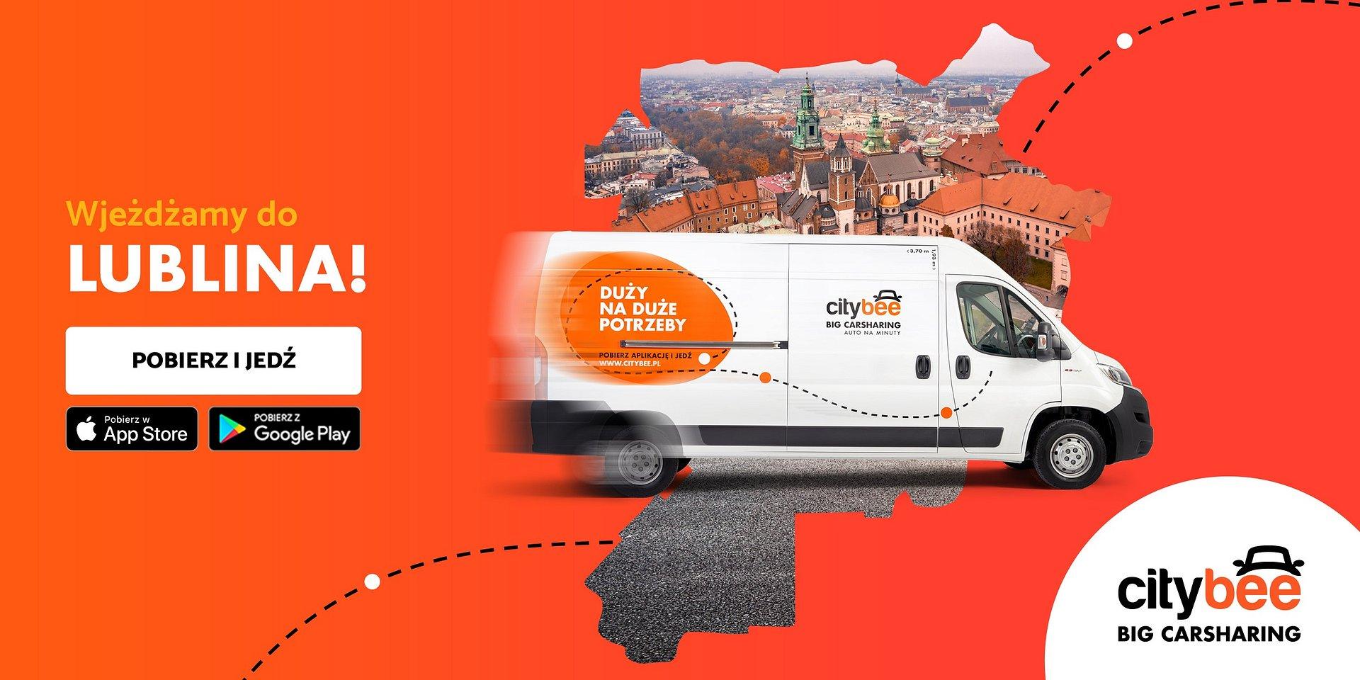 CityBee wjeżdża do Lublina! Startuje wynajem dostawczaków na minuty