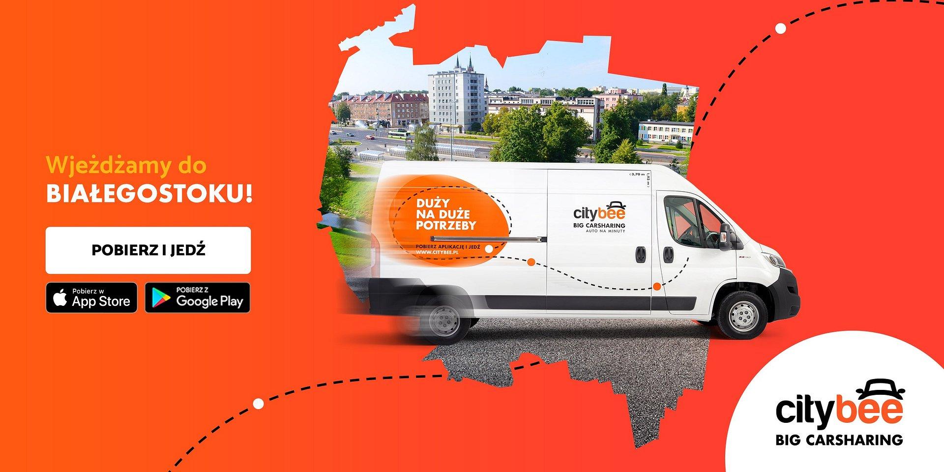 CityBee wjeżdża do Białegostoku! Startuje wynajem dostawczaków na minuty