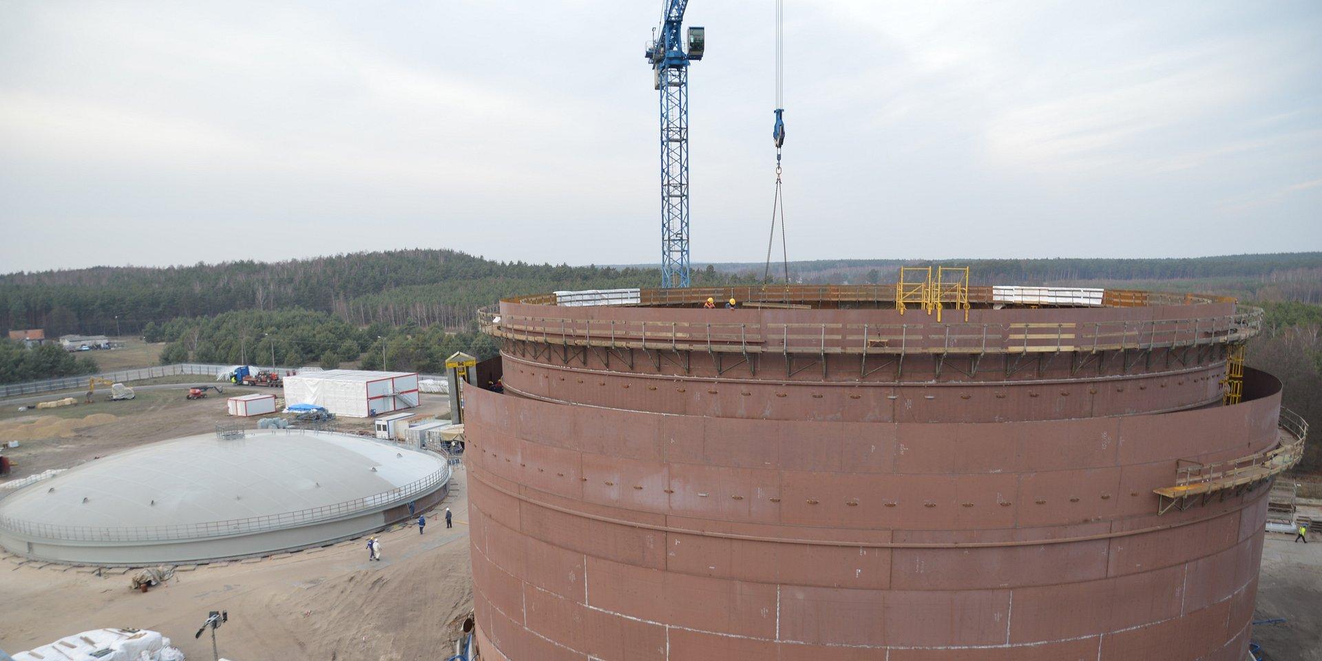 PERN buduje zbiorniki na olej napędowy w Nowej Wsi Wielkiej