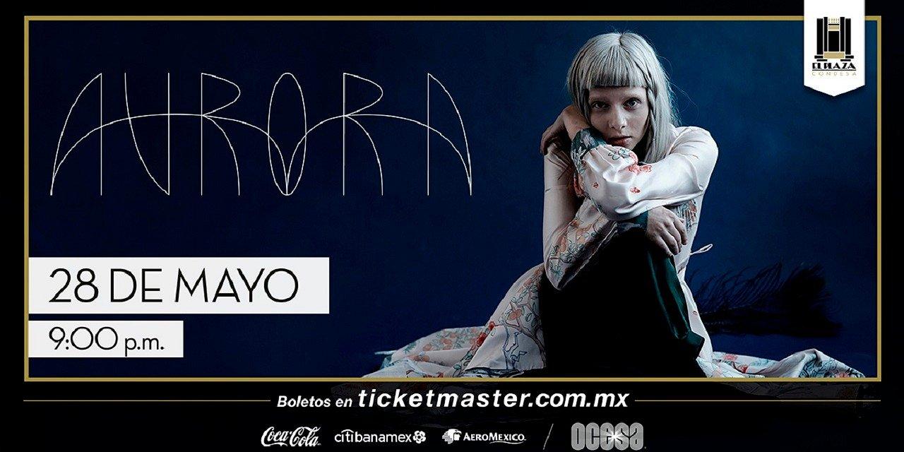Aurora encantará el escenario de El Plaza Condesa con su electro-pop
