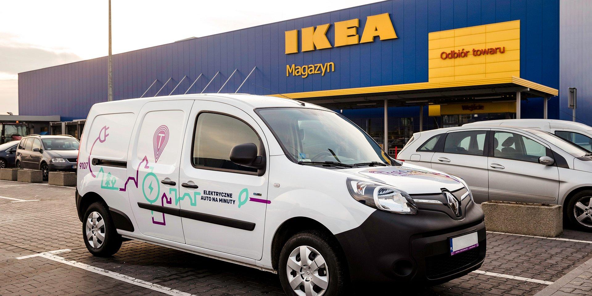 Pierwszy elektryczny samochód dostawczy Renault Kangoo Z.E. w usłudze TrafiCargo pod IKEA Kraków