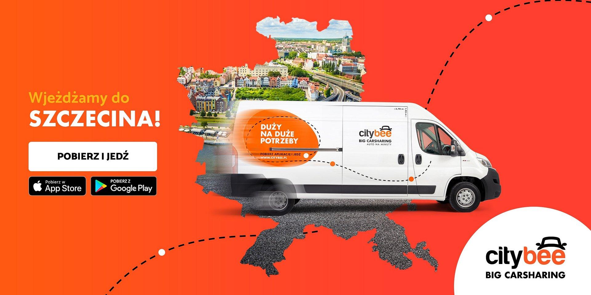 CityBee wjeżdża do Szczecina! Startuje wynajem dostawczaków na minuty!