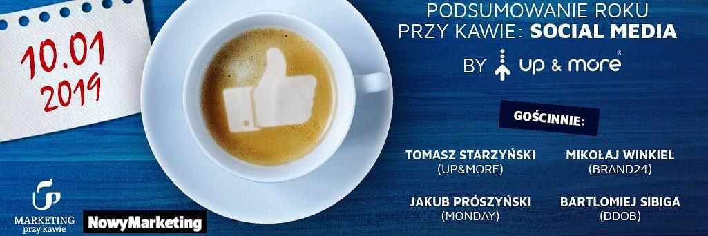 Podsumowanie roku przy kawie: Social Media | by Up&More