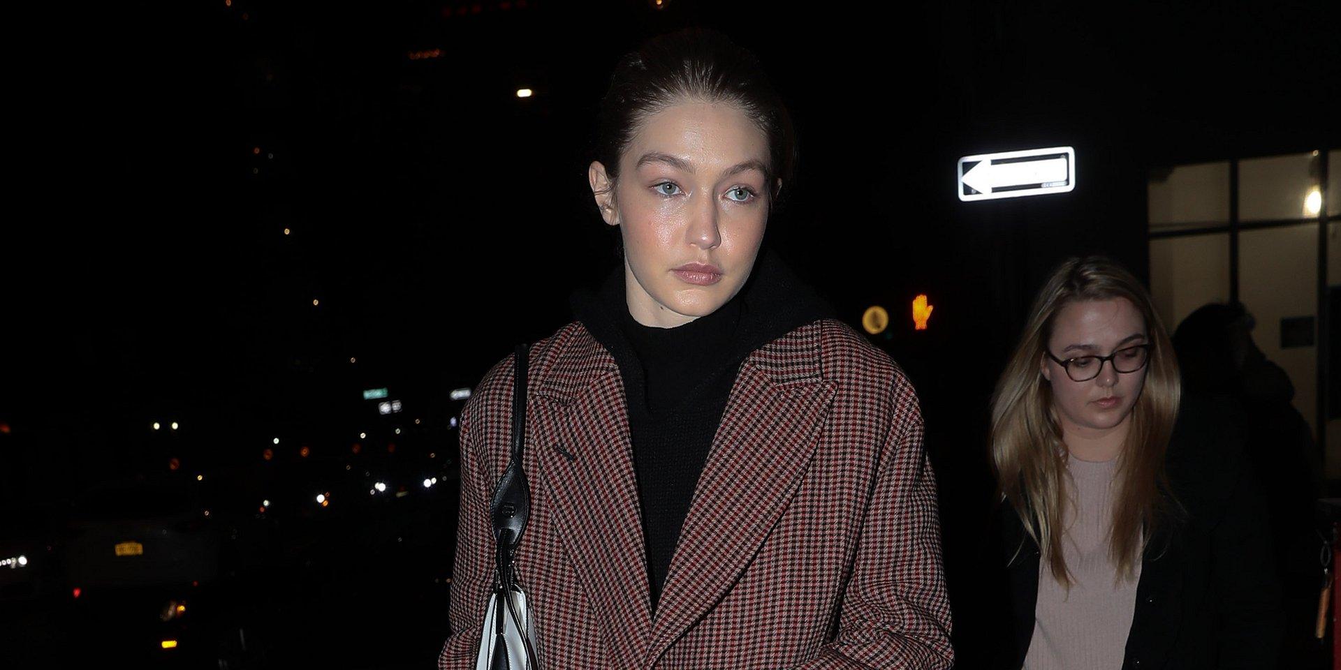 SPOTTED: Gigi Hadid w płaszczu MANGO podbija ulice Nowego Jorku!