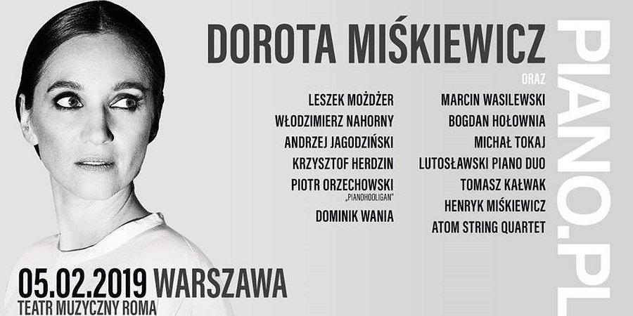 Dorota Miśkiewicz na koncercie PIANO.PL
