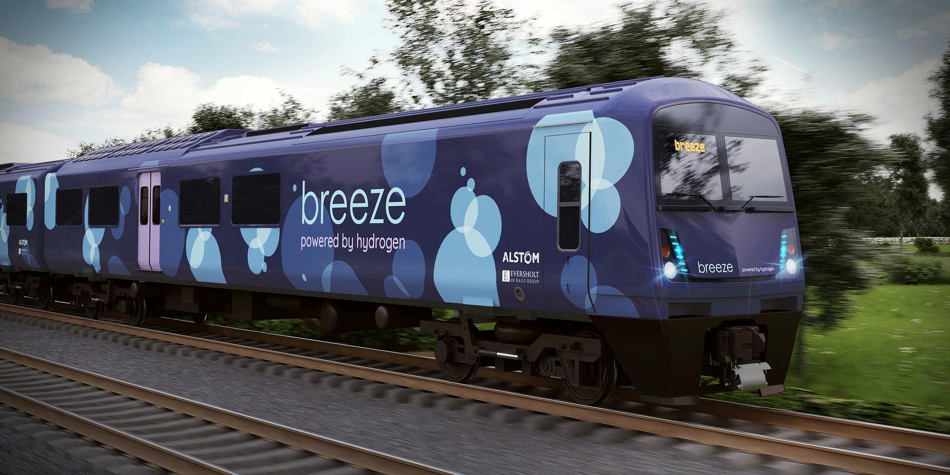 Alstom i Eversholt Rail przedstawili projekt nowego pociągu wodorowego dla Wielkiej Brytanii