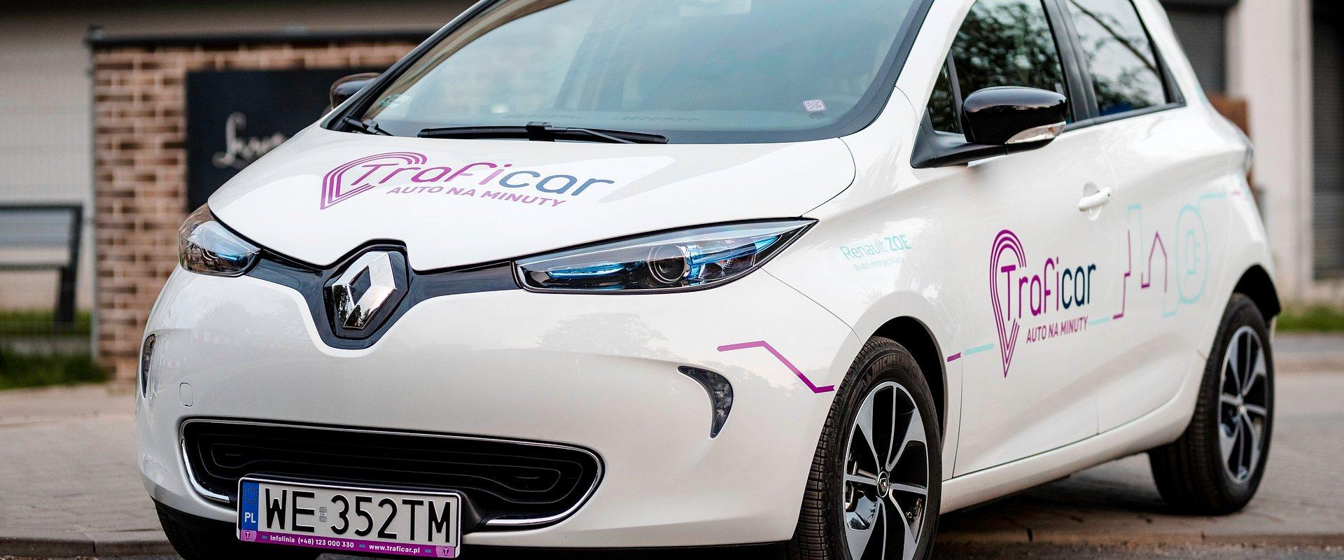 Elektryczne samochody Renault ZOE w ramach usługi Traficar dostępne w Katowicach