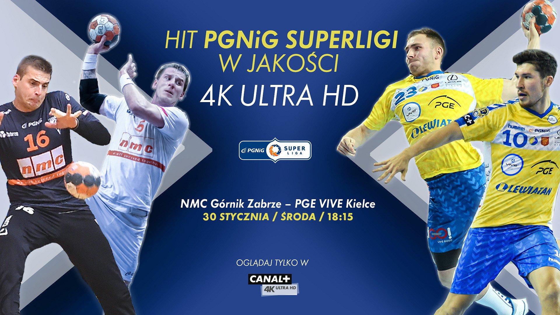 Pierwszy w historii polskiego sportu halowego mecz w 4K UHD tylko w nc+