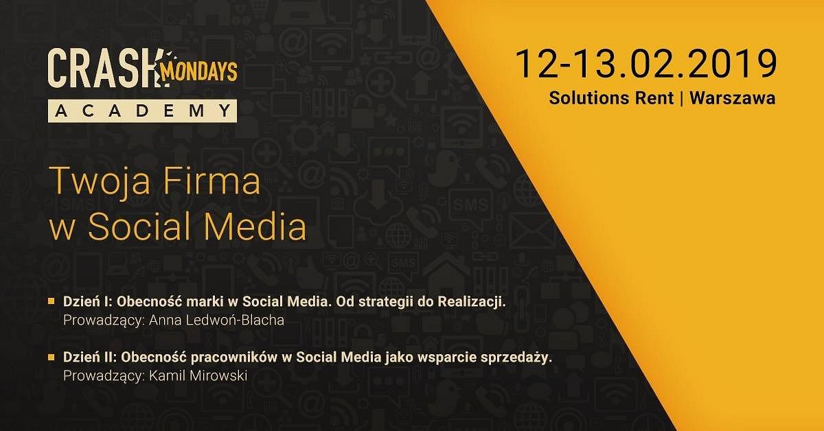 Twoja firma w social mediach - dwudniowe szkolenie