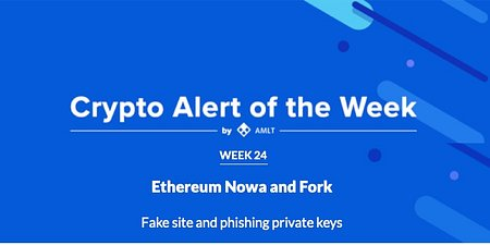 Fake Ethereum Fork + more in AMLT Crypto Alert of the Week