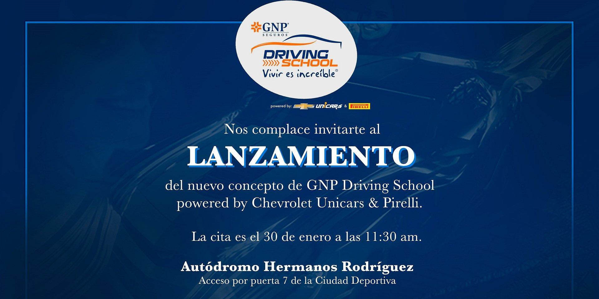 INVTACIÓN LANZAMIENTO GNP DRIVING SCHOOL