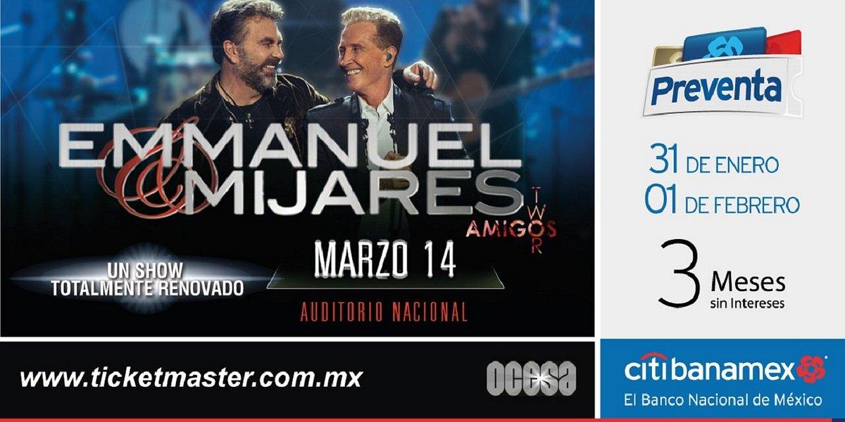 Emmanuel & Mijares, la dupla fantástica, consiguen otro Sold Out