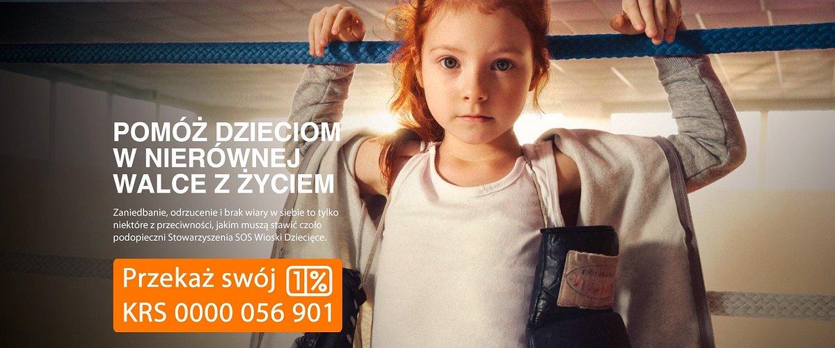 """""""Pomóż dzieciom w nierównej walce z życiem"""" – ruszyła kampania 1% SOS Wiosek Dziecięcych"""