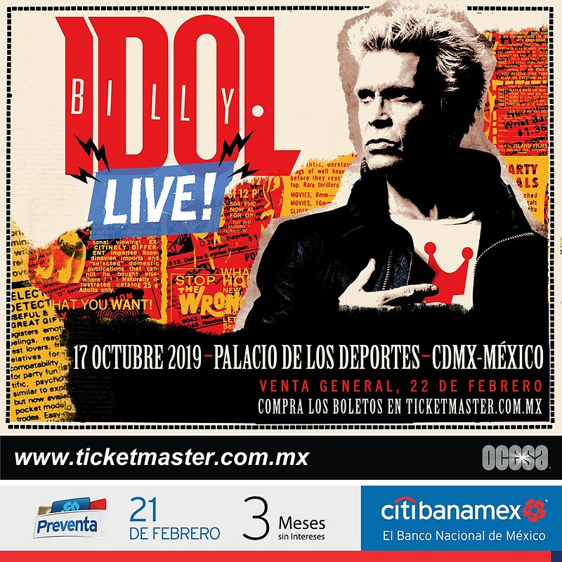 BILLY IDOL EN VIVO EN MÉXICO