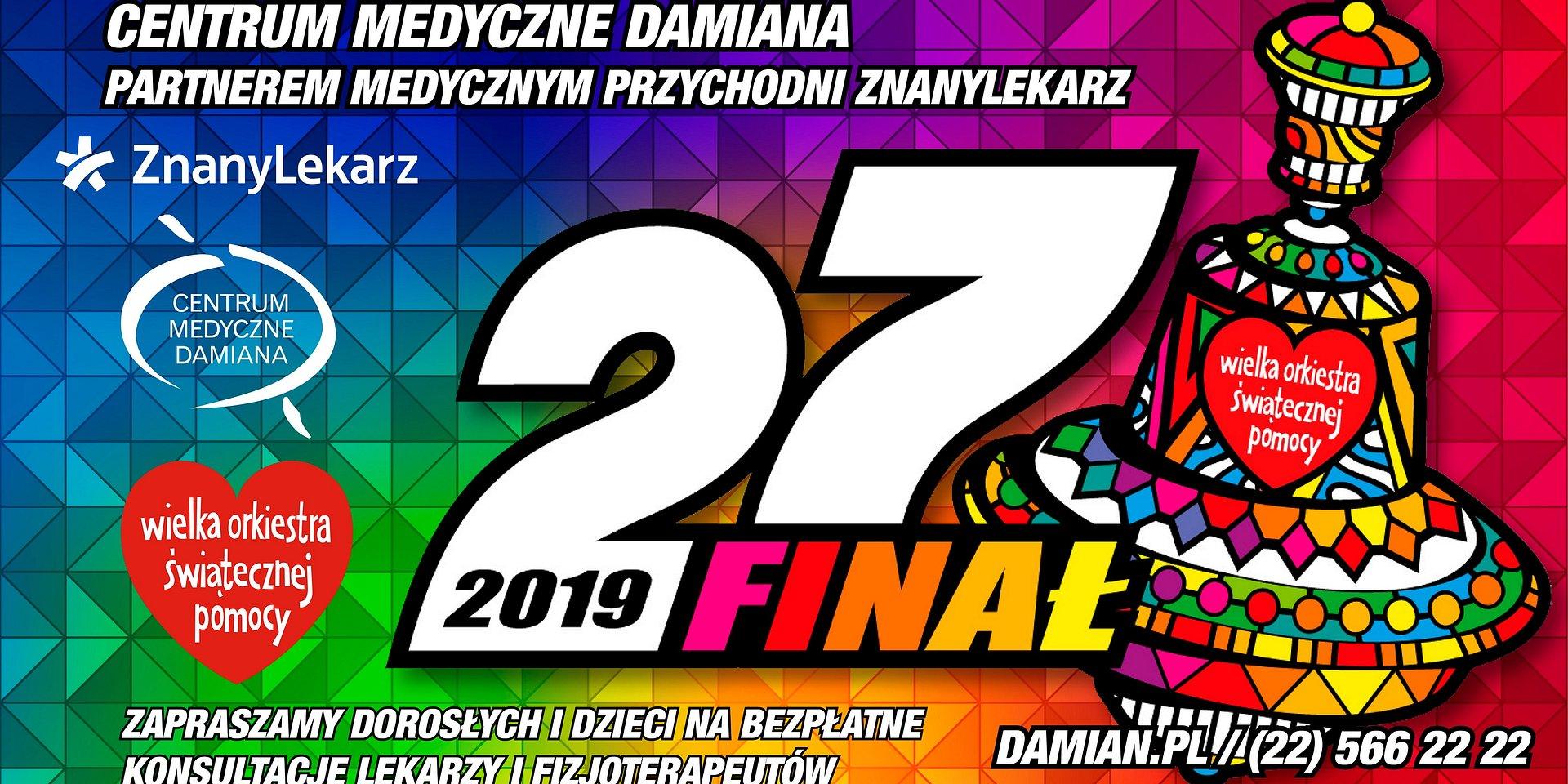 Centrum Medyczne Damiana wspiera 27. Finał Wielkiej Orkiestry Świątecznej Pomocy