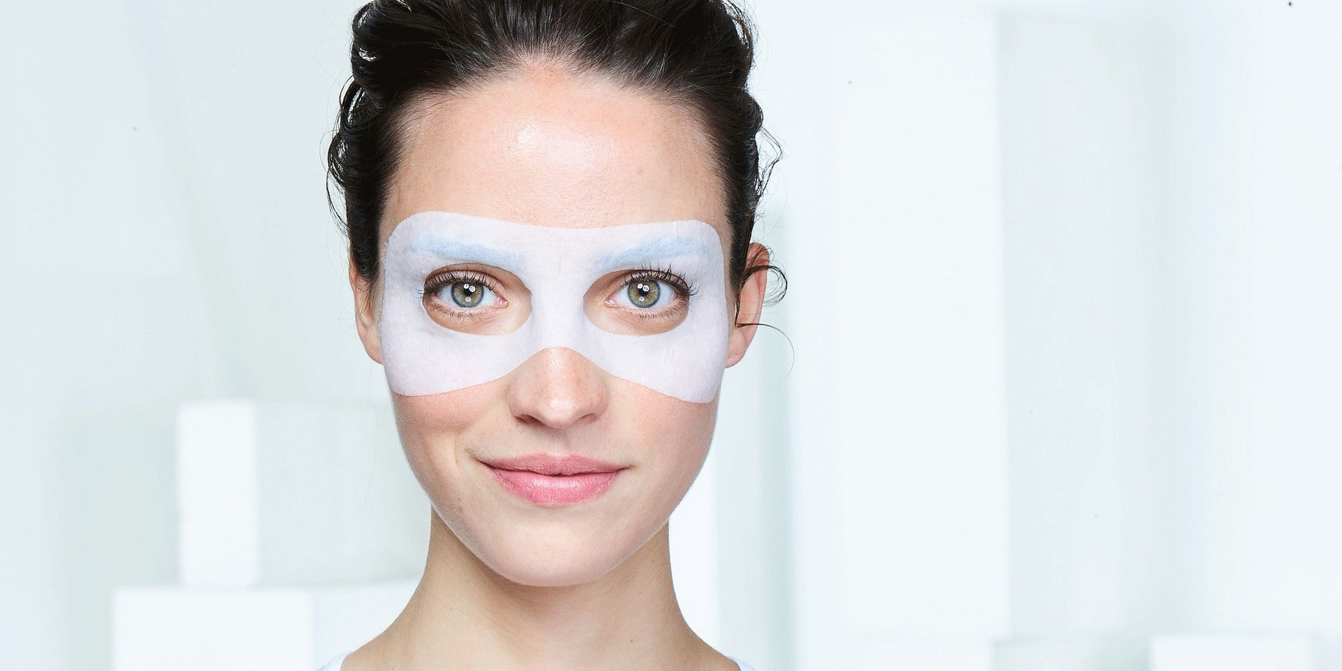 Máscaras em tecido para contorno de olhos