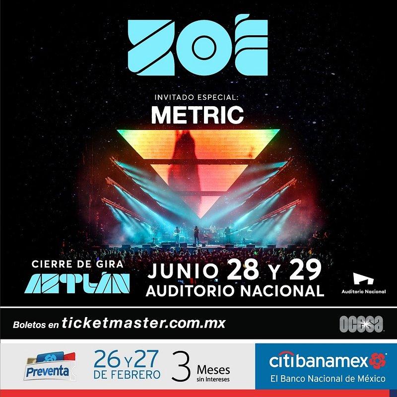 Zoé & Metric juntos por primera vez en la Ciudad de México