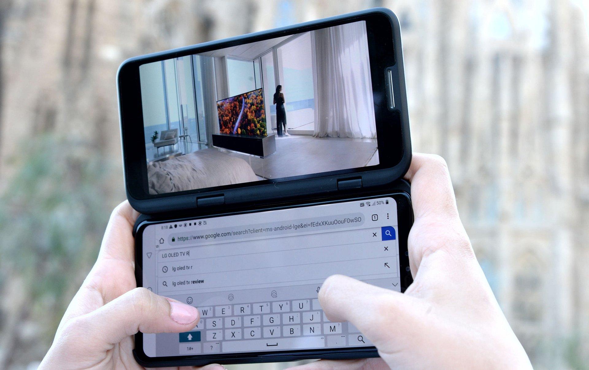 Dwa rewolucyjne smartfony LG zaprezentowane podczas targów MWC – LG V50 ThinQ 5G i LG G8 ThinQ