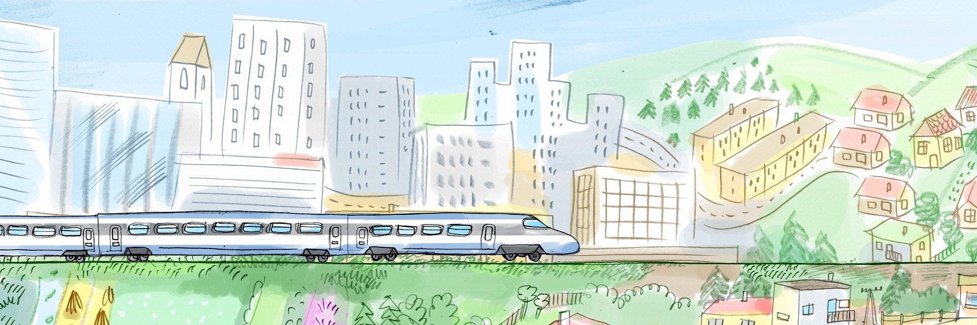Myszka w Paski pokaże maluchom świat kolei