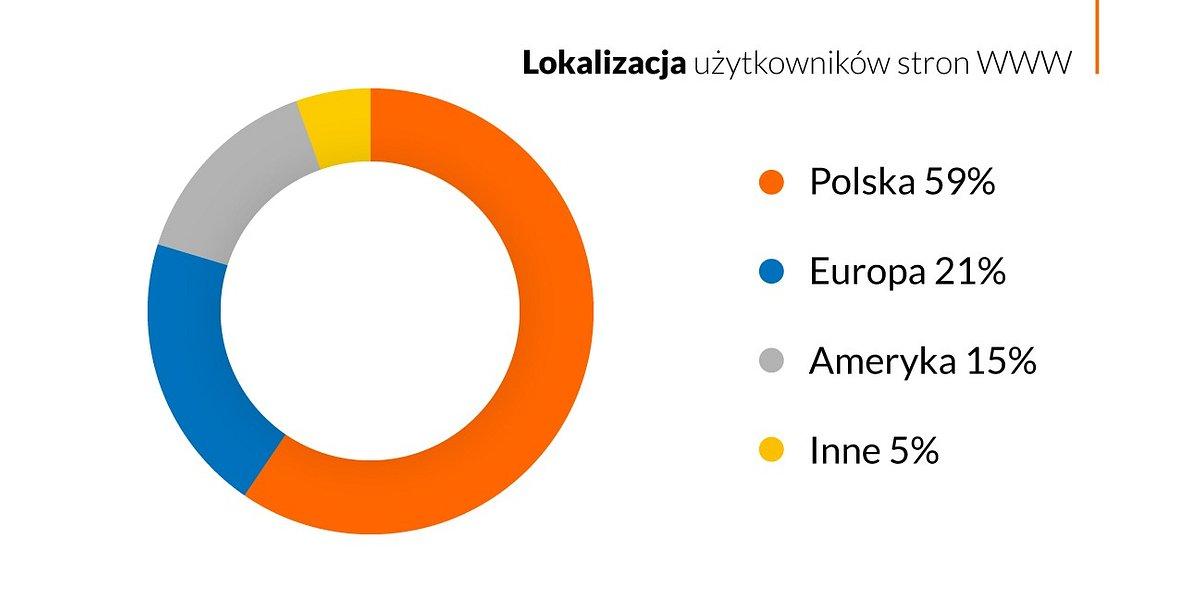 41% ruchu w polskim Internecie pochodzi spoza Polski