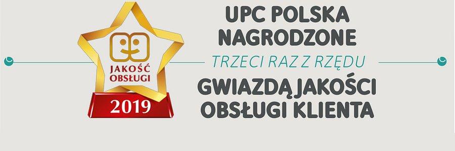 """UPC Polska wyróżnione """"Gwiazdą Jakości Obsługi 2019"""""""
