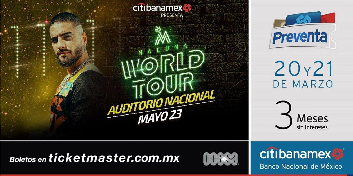 Maluma el máximo ídolo de la música urbana llega a la Ciudad de México con su World Tour