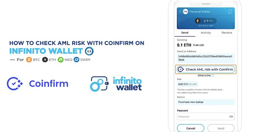 Coinfirm creates 1st Wallet feature of its kind with Infinito Wallet