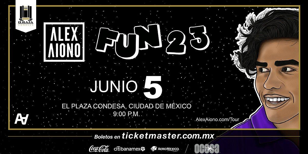 Alex Aiono por primera vez en México con la gira #Fun23
