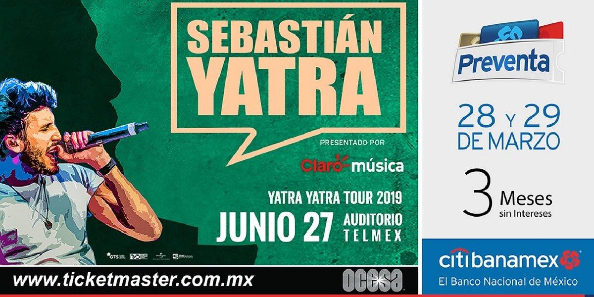 Sebastián Yatra se presentará en Guadalajara y Monterrey