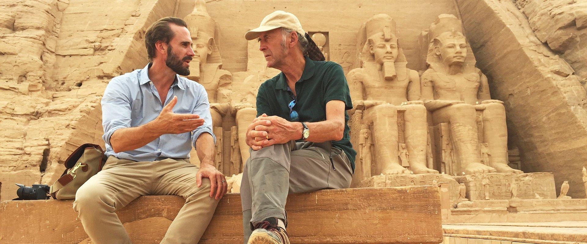 'EXPLORAR O EGITO COM RANULPH E JOSEPH FIENNES' NO NATIONAL GEOGRAPHIC