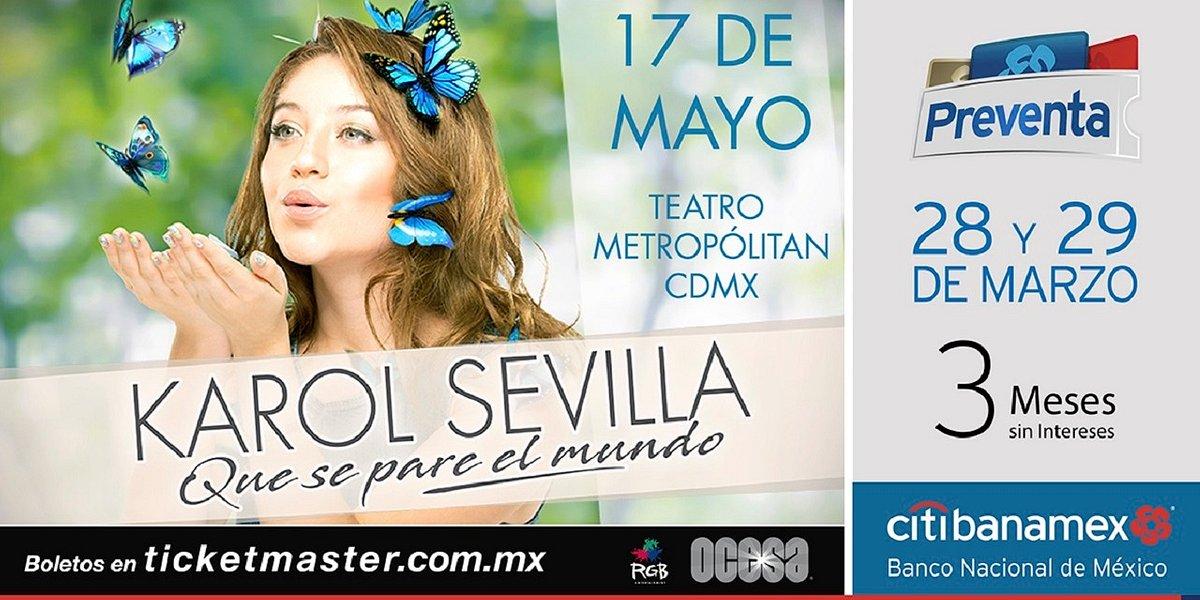 Karol Sevilla llega a México con su Tour Que se Pare el Mundo