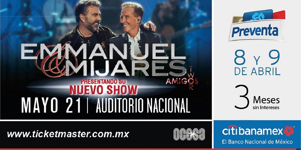 Emmanuel & Mijares de vuelta a su casa: el Auditorio Nacional