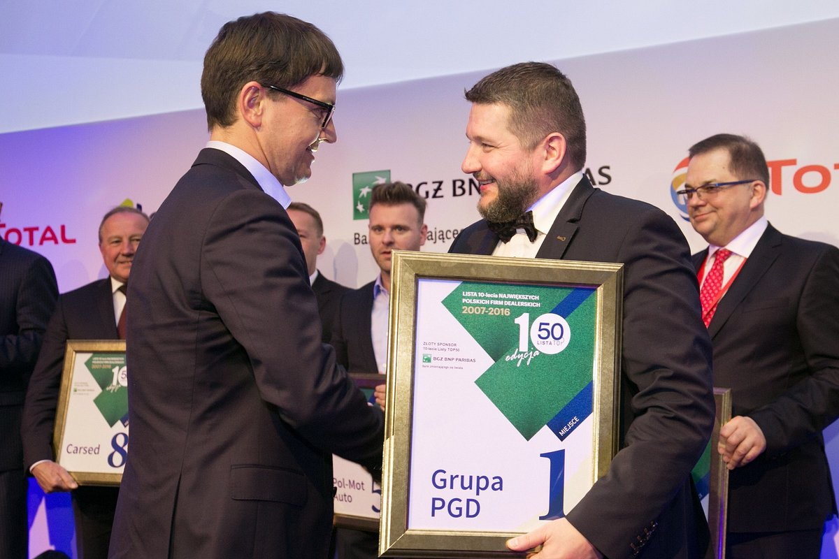 Grupa PGD Dealerem Dziesięciolecia