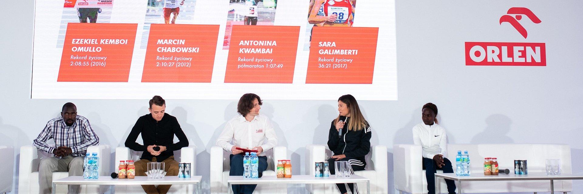 Konferencja ORLEN Warsaw Marathon 2019