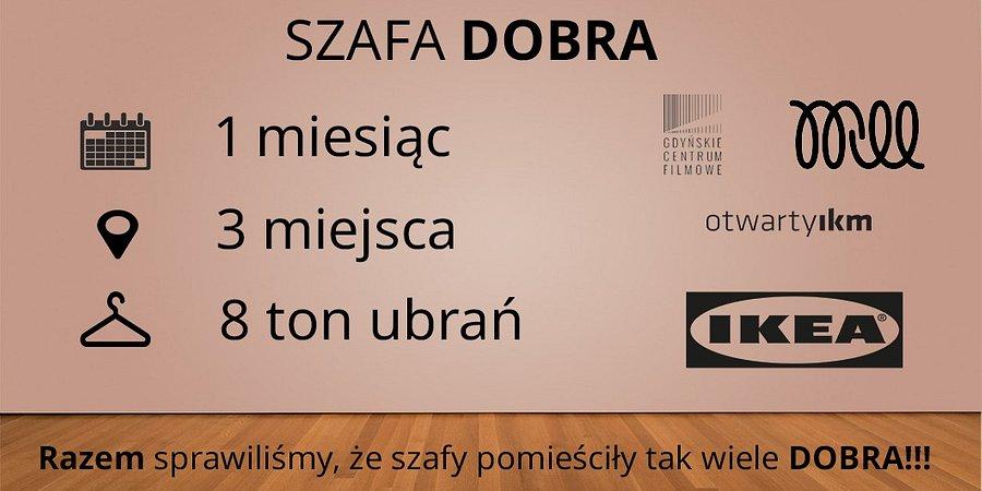 SZAFA DOBRA – zebrane 8 ton ubrań! Poruszone tysiące serc! Niesamowite wyniki akcji charytatywnej IKEA GDAŃSK