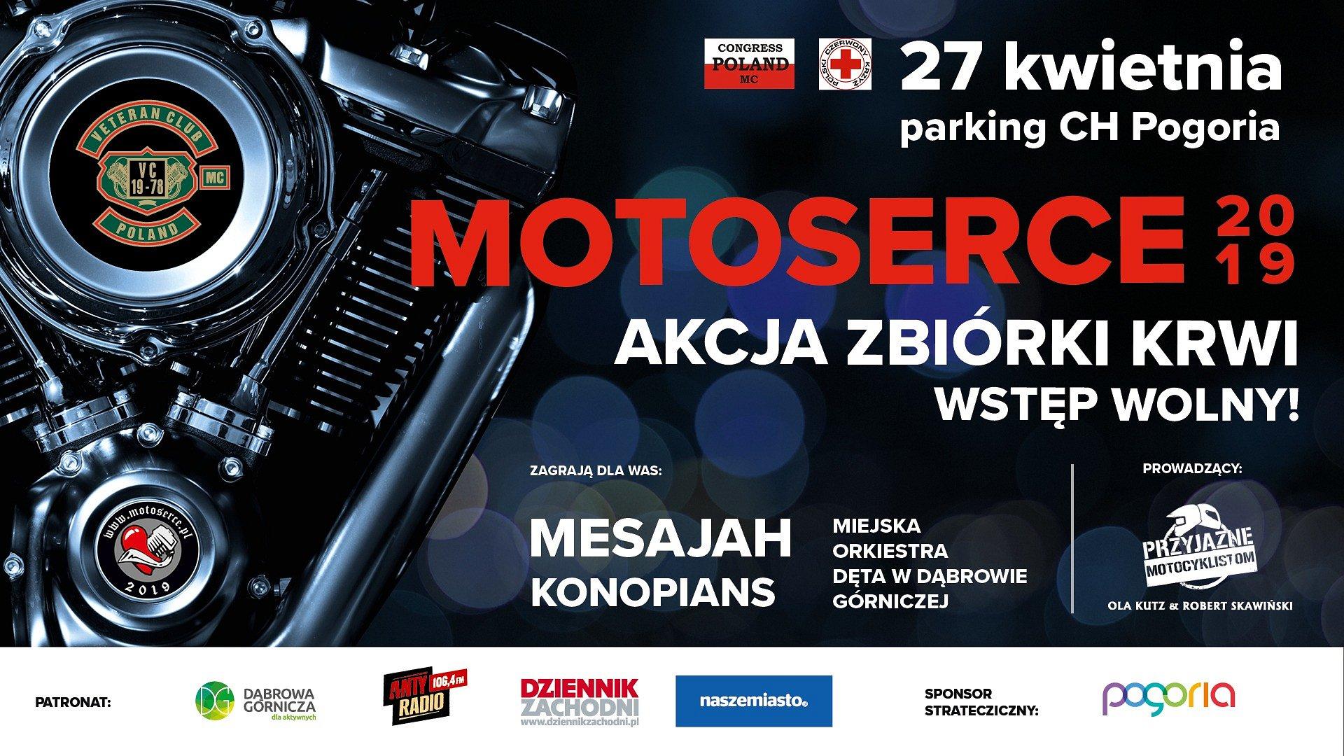 MOTOSERCE 2019: Dąbrowski finał ogólnopolskiej akcji w CH Pogoria